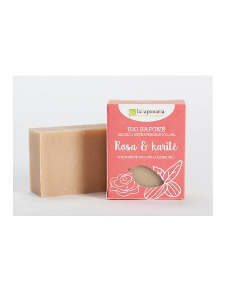 La Saponaria - Sapone al taglio Rosa e Burro di Karité