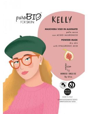 PuroBio - Maschera Viso Kelly Peel-Off - In Alginato per Pelle Secca con Acido Ialuronico - Fico