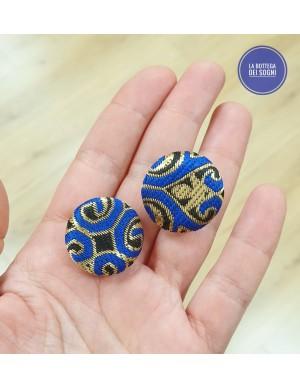 Orecchini broccato Blu
