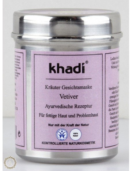 Khadi - Maschera viso al Vetiver