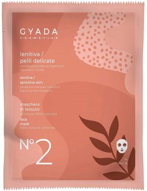 Gyada Cosmetics - Maschera in tessuto n. 2 Lenitiva/Pelli Delicate
