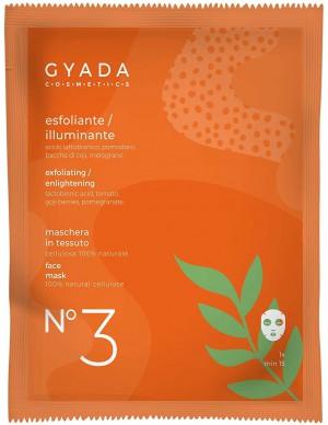 Gyada Cosmetics - Maschera in tessuto n. 3 Esfoliante/Illuminante