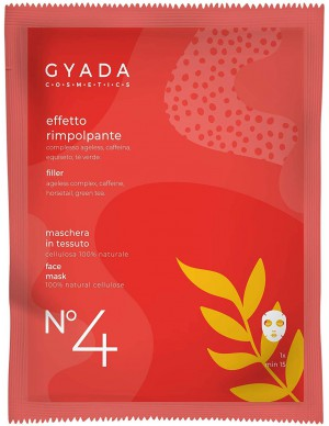 Gyada Cosmetics - Maschera in tessuto n. 4 Effetto Rimpolpante