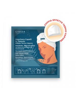 Gyada Cosmetics - Maschera Capelli In Tessuto Effetto Termo-Vapore - Nutriente E Ristrutturante N.1